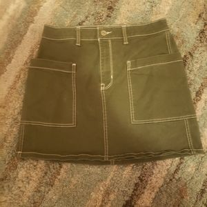 Arizona khaki green miniskirt